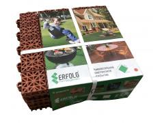 Дорожки для теплиц - модульное покрытие 30х30х1,1 см терракот (9 шт. в упаковке) [ФМ3925]