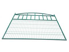 Ворота с двумя столбами со сварной сеткой 3D 1,5 х 3,5 м ППК зеленый [ФМ4107]