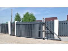 Откатные ворота из штакетника 1.8*3 м [ФМ4381]