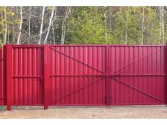 Распашные ворота из профлиста 1.8*3 м [ФМ4376]