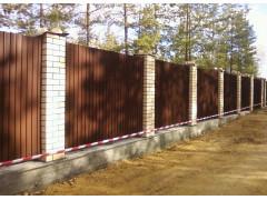 Забор из профлиста, цена за 1 погонный метр [ФМ4374]