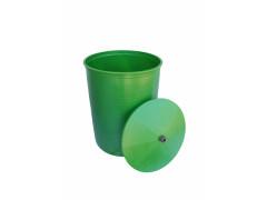 Бочка 150л пищевая с крышкой цветная, цвет в ассортименте зелёный, терракот, черный, желтый [ФМ4408]