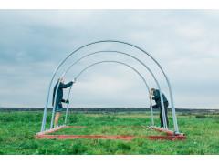 Дуга (покрытие порошковая краска), сечение 30x30 мм, ширина 2.5м, высота 2м (уценка) [ФМ4401]