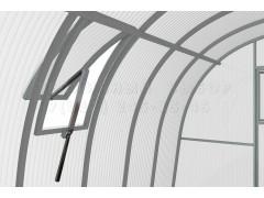 Форточка на крышу 40 с автоматом для проветривания узкая, цвет серый [ФМ4450]