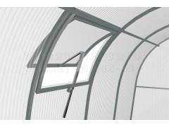 Форточка на крышу 55 с автоматом для проветривания средняя, цвет серый [ФМ3017]