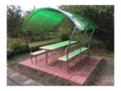 """Беседка """"Альфа"""" (каркас + доски + поликарбонат зеленый) (образец) [ФМ4615]"""