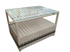 Кофейный стол из полиротанга (80*60*50 см) [ФМ4601]