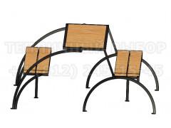 """Стол с лавочкой """"Трансформер"""" без навеса [ФМ4587]"""