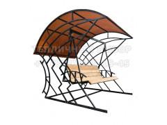 Качель-кровать Лофт с поликарбонатом Бронза 6 мм [ФМ4672]