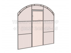 Перегородка с дверью для теплицы Весна 2Д стандарт Оц НАНО [ФМ4669]