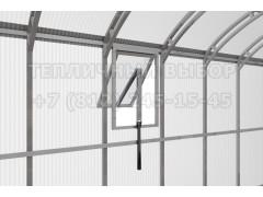 Форточка на боковую стенку для теплицы Весна 2Д Прямостенная 63*50 см с автоматом для проветривания [ФМ4755]