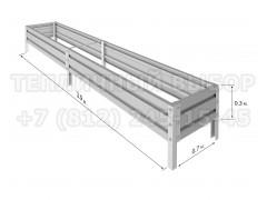 Готовая грядка Классик шириной 70 см, высота 30 см, длина 3.9 м [ФМ4971]