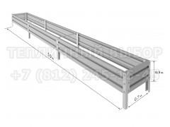 Готовая грядка Классик шириной 70 см, высота 30 см, длина 5.9 м [ФМ4972]