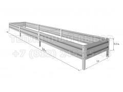 Готовая грядка Классик шириной 1 м, высота 30 см, длина 5.9 м [ФМ4968]