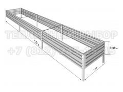 Готовая грядка Классик шириной 1 м, высота 38 см, длина 5.9 м [ФМ5032]