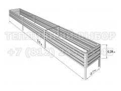 Готовая грядка Классик шириной 70 см, высота 38 см, длина 5.9 м [ФМ5036]