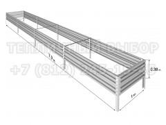 Готовая грядка Классик шириной 1 м, высота 38 см, длина 7.9 м [ФМ5033]