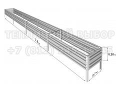 Готовая грядка Классик шириной 70 см, высота 38 см, длина 7.9 м [ФМ5037]