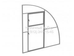 Перегородка с дверью для теплицы Фазенда Пристенная Оц65 каркас [ФМ5166]