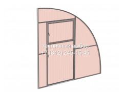 Перегородка с дверью для теплицы Фазенда Пристенная Оц65 ПК ФИТО [ФМ5167]
