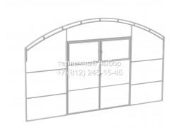 Перегородка с дверью для теплицы Весна 2Д мега Оц каркас [ФМ5153]
