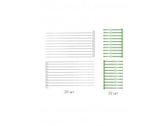 Опора для рассады и растений (металлическая опора + жгут, 20 шт в комплекте) [ФМ5309]