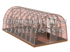 Теплица Агроном-6 2Д стандарт Оц65 ПК-4 НАНО [ФМ3871]