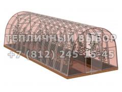 Теплица Агроном-8 2Д стандарт Оц65 ПК-5 НАНО [ФМ3872]