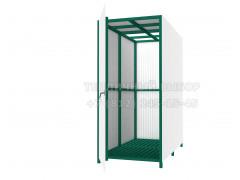 Душевая кабина Лето с раздевалкой (Зеленая), без бака, с обшивкой [ФМ4296]