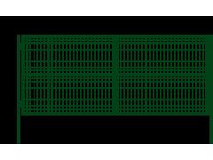 Ворота с двумя столбами со сварной сеткой 1,5 х 3,0 м ППК зеленый/коричневый [ФМ4073]