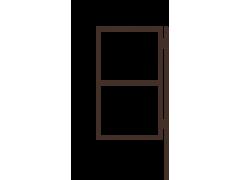 Калитка с одним столбом 1,5 х 0,8м грунт [ФМ4068]