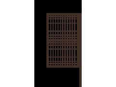 Калитка с одним столбом со сварной сеткой 1,5 х 0,8м ППК зеленый/коричневый порошок [ФМ4070]