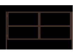 Ворота с двумя столбами 1,5 х 3,4 м ППК зеленый/коричневый [ФМ4072]