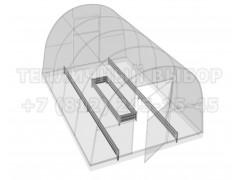Набор грядок Лайт для теплицы 6 метров (бортики + центральная грядка) [ФМ5113]
