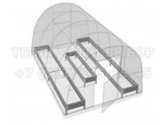 Набор грядок Премиум для теплицы 4 метра (3 грядки) [ФМ5121]