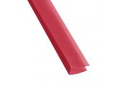 Профиль торцевой П-образный на 4мм, длина 2,1м, цвет красный [ФМ2872]