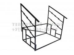 Лестница к дому 3-ступени, каркас без перил [ФМ3260]