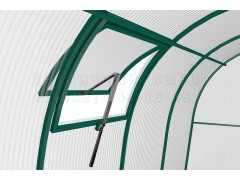 Форточка на крышу 93 с автоматом для проветривания широкая, цвет зеленый [ФМ2908]