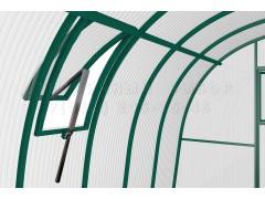 Форточка на крышу 40 с автоматом для проветривания узкая, цвет зеленый [ФМ2907]
