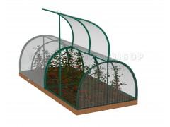 Парник Кабачок (Зелёный) 4 метра с поликарбонатом [ФМ1036]