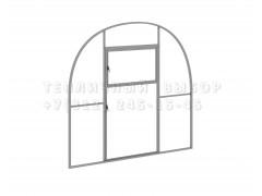 Перегородка с дверью для теплицы Агроном оптима Оц каркас [ФМ3249]