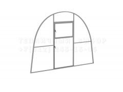 Перегородка с дверью для теплицы Агроном мини Оц каркас [ФМ3250]