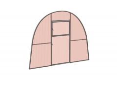 Перегородка с дверью для теплицы Весна стандарт Сер НАНО [ФМ3137]