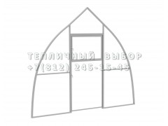 Перегородка с дверью для теплицы Фазенда стандарт Купол Оц каркас [ФМ3144]