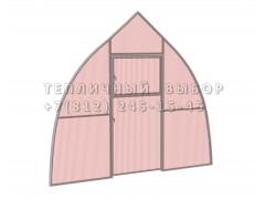 Перегородка с дверью для теплицы Фазенда стандарт Купол Оц НАНО [ФМ3160]