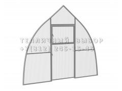 Перегородка с дверью для теплицы Фазенда стандарт Купол Оц ПК [ФМ3152]
