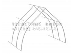 Удлинитель для теплицы Фазенда стандарт Купол Оц65 каркас [ФМ3145]